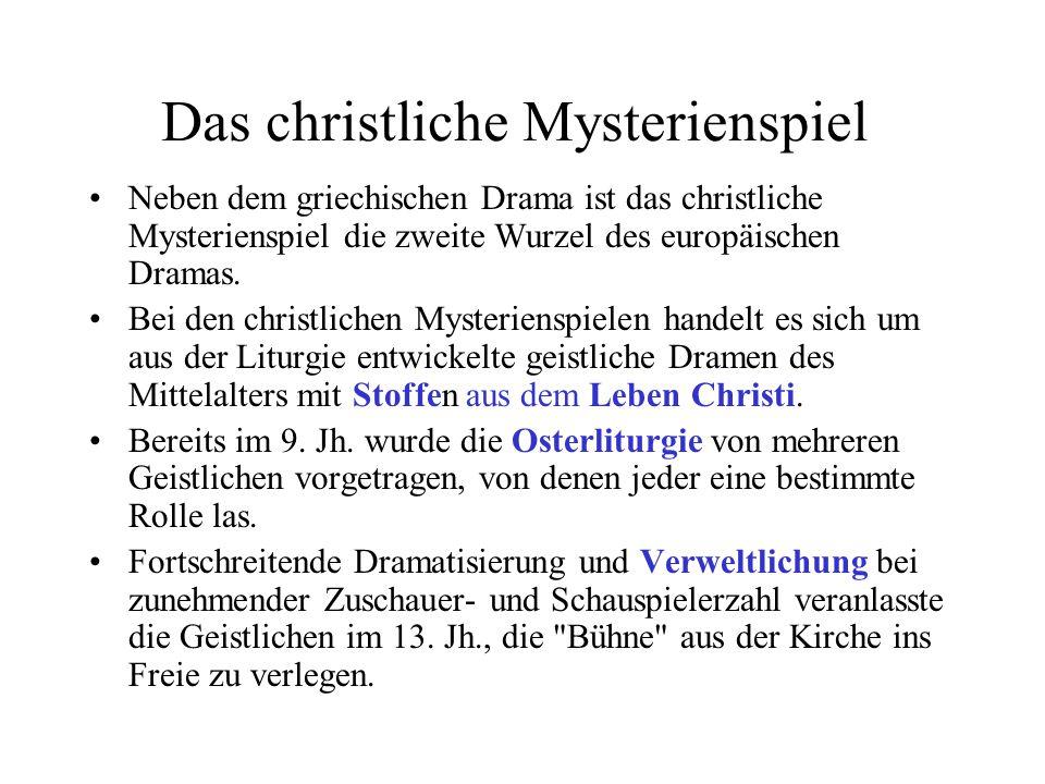 Das christliche Mysterienspiel