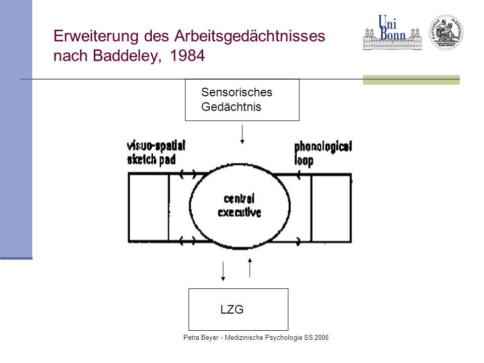 Erweiterung des Arbeitsgedächtnisses nach Baddeley, 1984