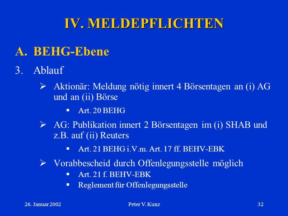 IV. MELDEPFLICHTEN A. BEHG-Ebene 3. Ablauf
