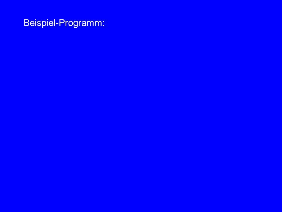 Beispiel-Programm: