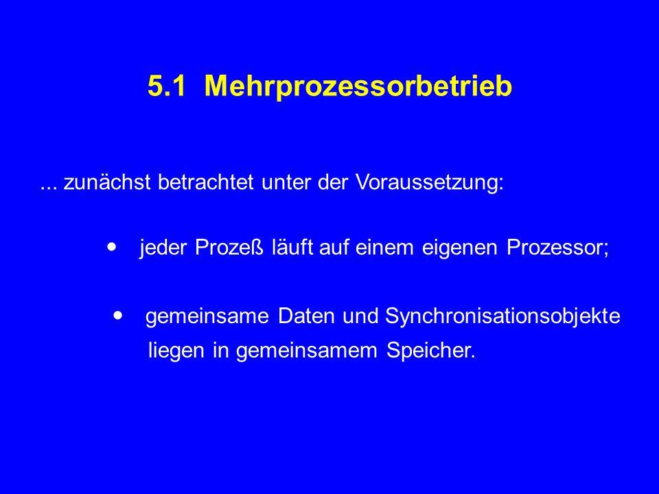 5.1 Mehrprozessorbetrieb