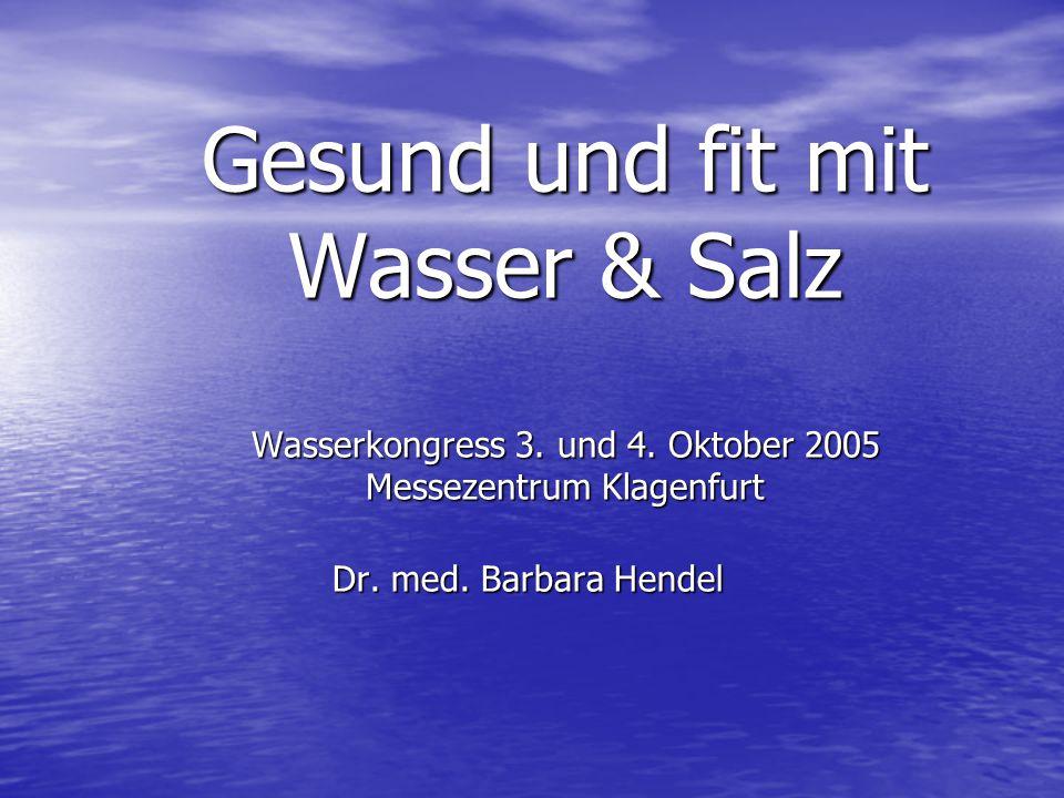 Gesund und fit mit Wasser & Salz Wasserkongress 3. und 4