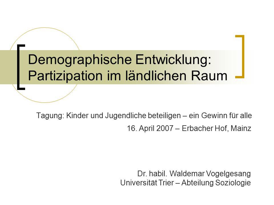 Demographische Entwicklung: Partizipation im ländlichen Raum