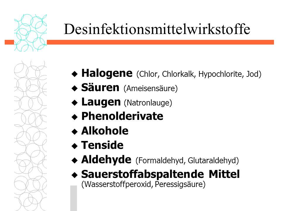 Desinfektionsmittelwirkstoffe