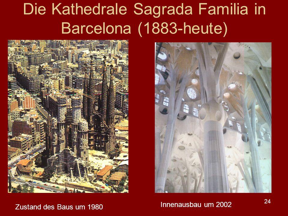 Die Kathedrale Sagrada Familia in Barcelona (1883-heute)