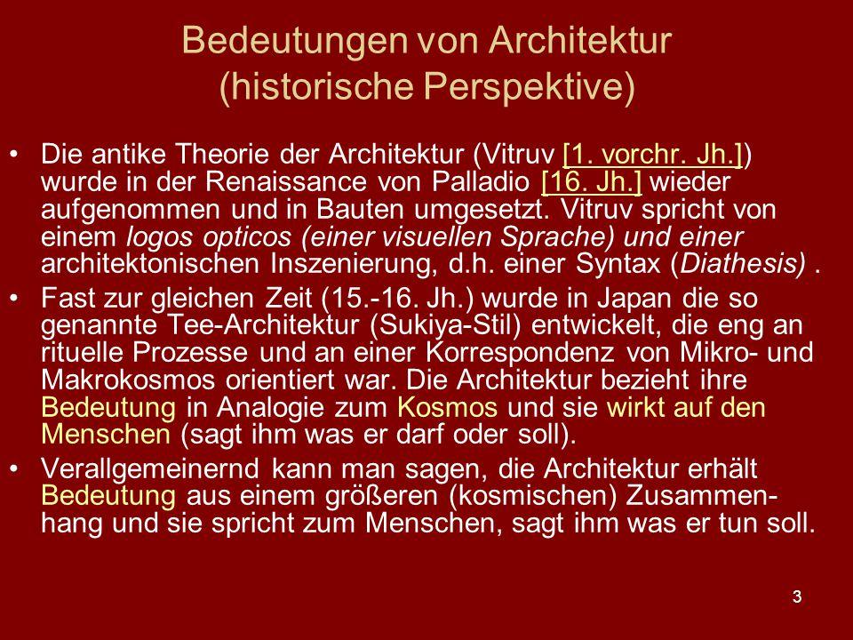 Bedeutungen von Architektur (historische Perspektive)