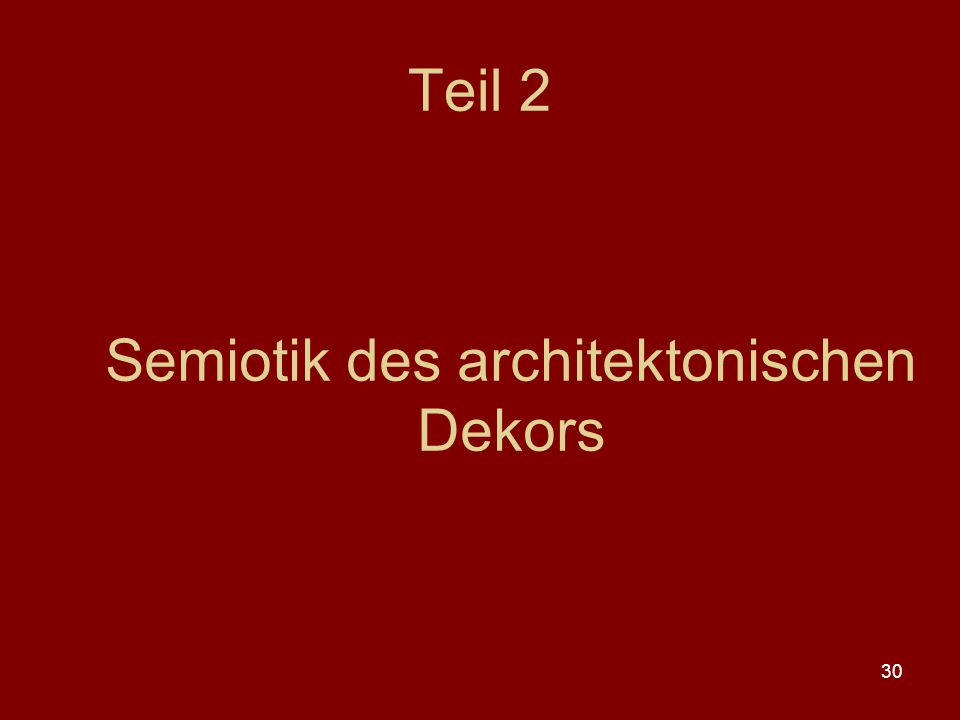 Semiotik des architektonischen Dekors