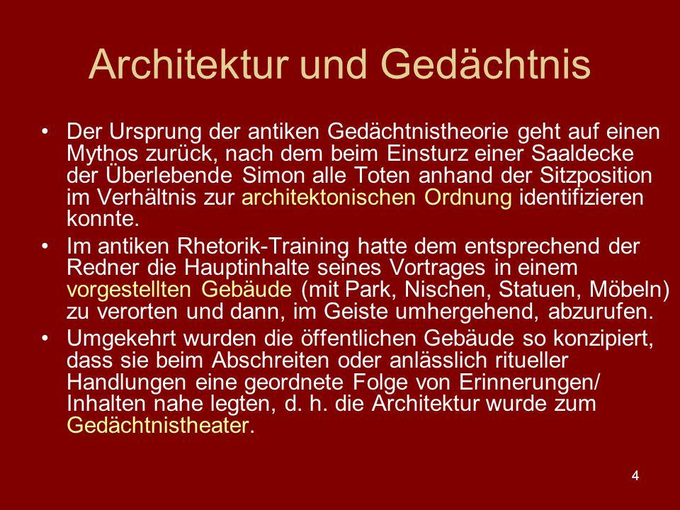 Architektur und Gedächtnis