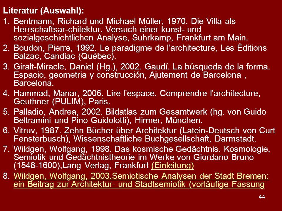Literatur (Auswahl):