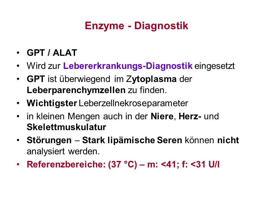 Enzyme - Diagnostik GPT / ALAT
