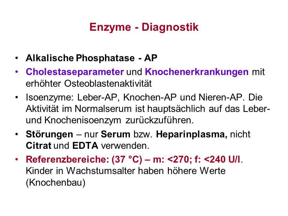 Enzyme - Diagnostik Alkalische Phosphatase - AP