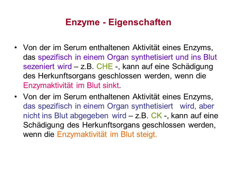 Enzyme - Eigenschaften