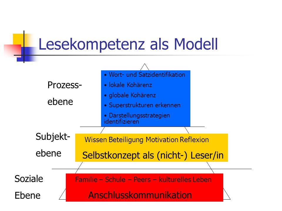 Lesekompetenz als Modell
