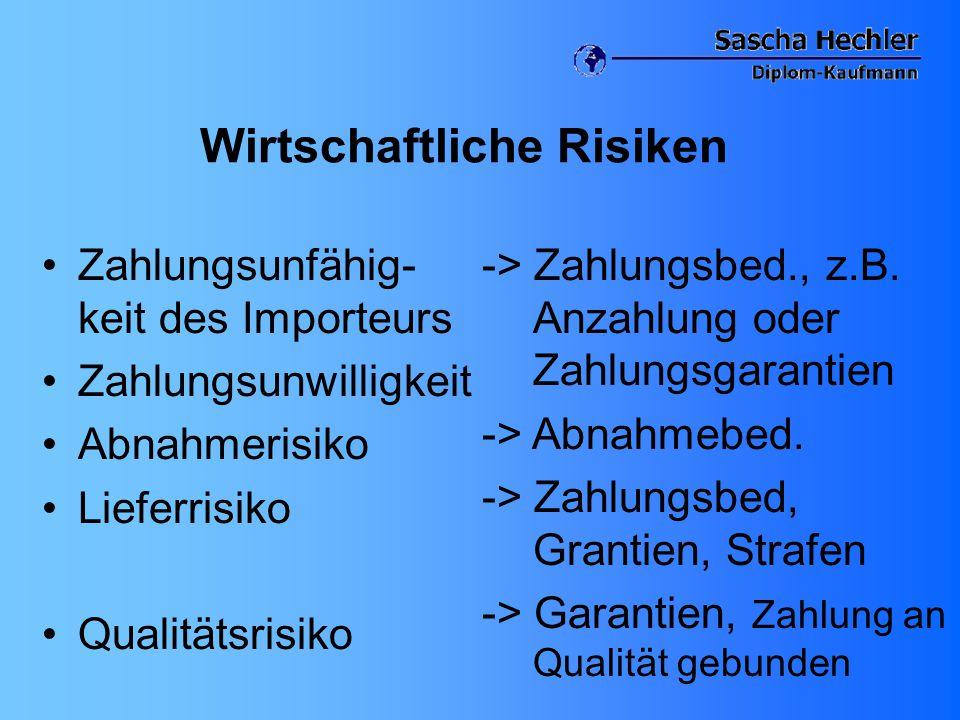 Wirtschaftliche Risiken