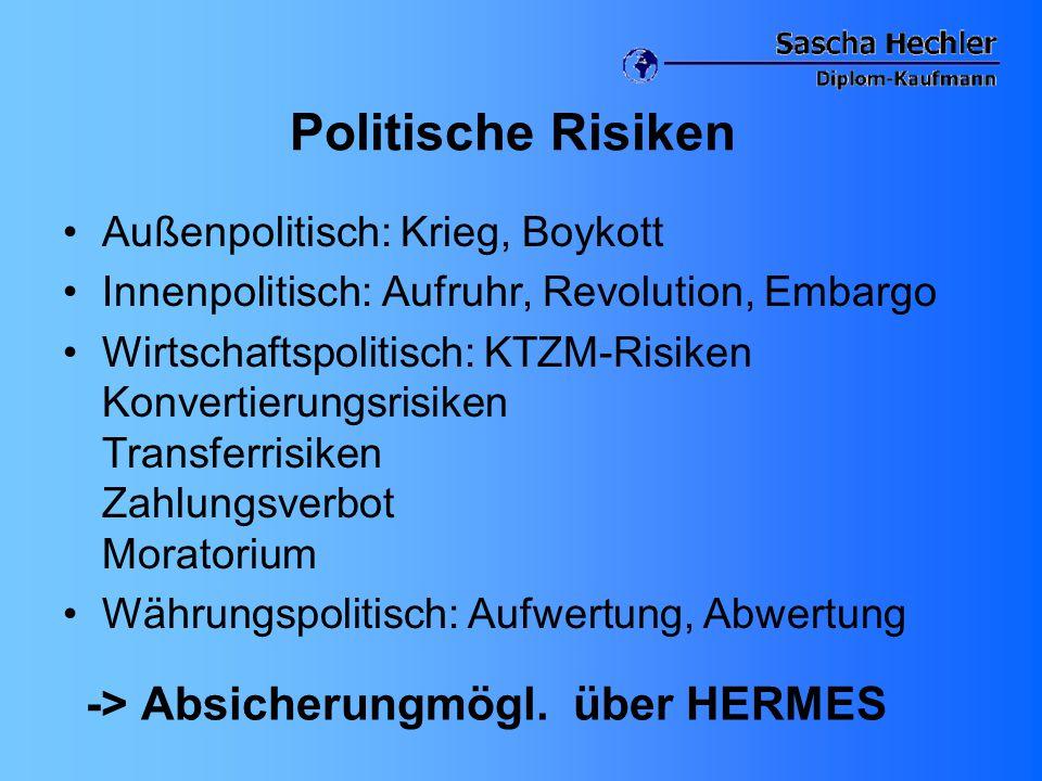 -> Absicherungmögl. über HERMES