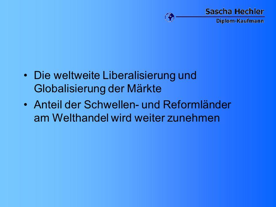 Die weltweite Liberalisierung und Globalisierung der Märkte
