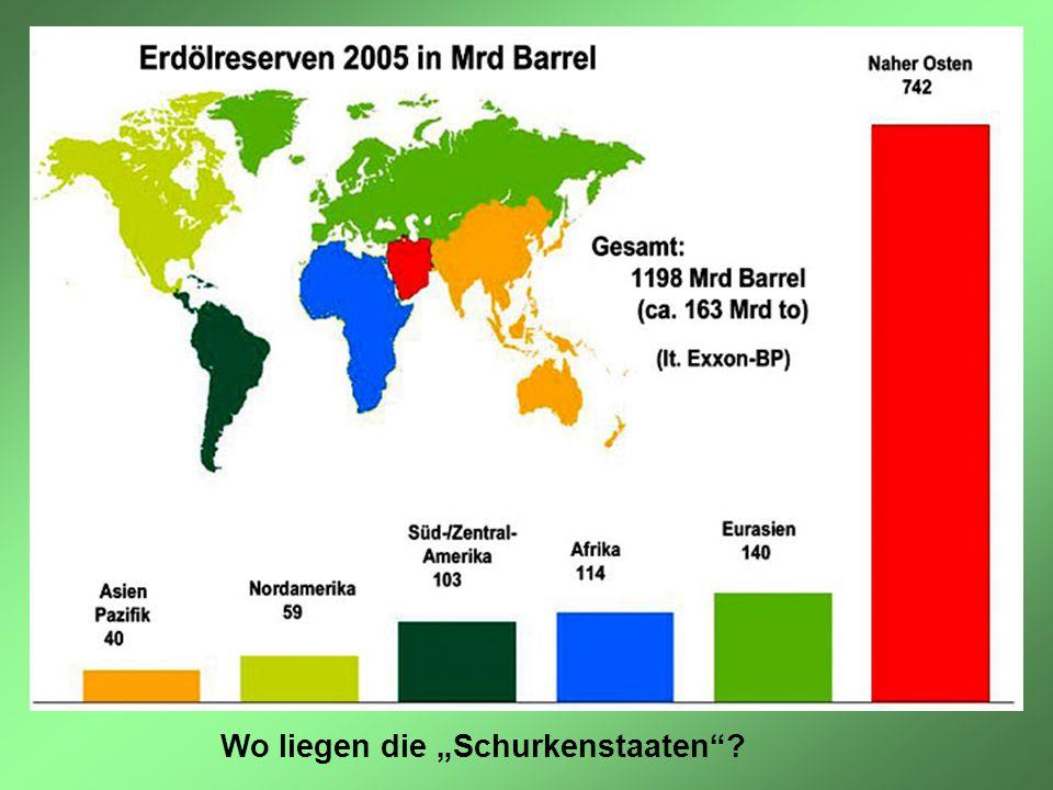 """Wo liegen die """"Schurkenstaaten"""