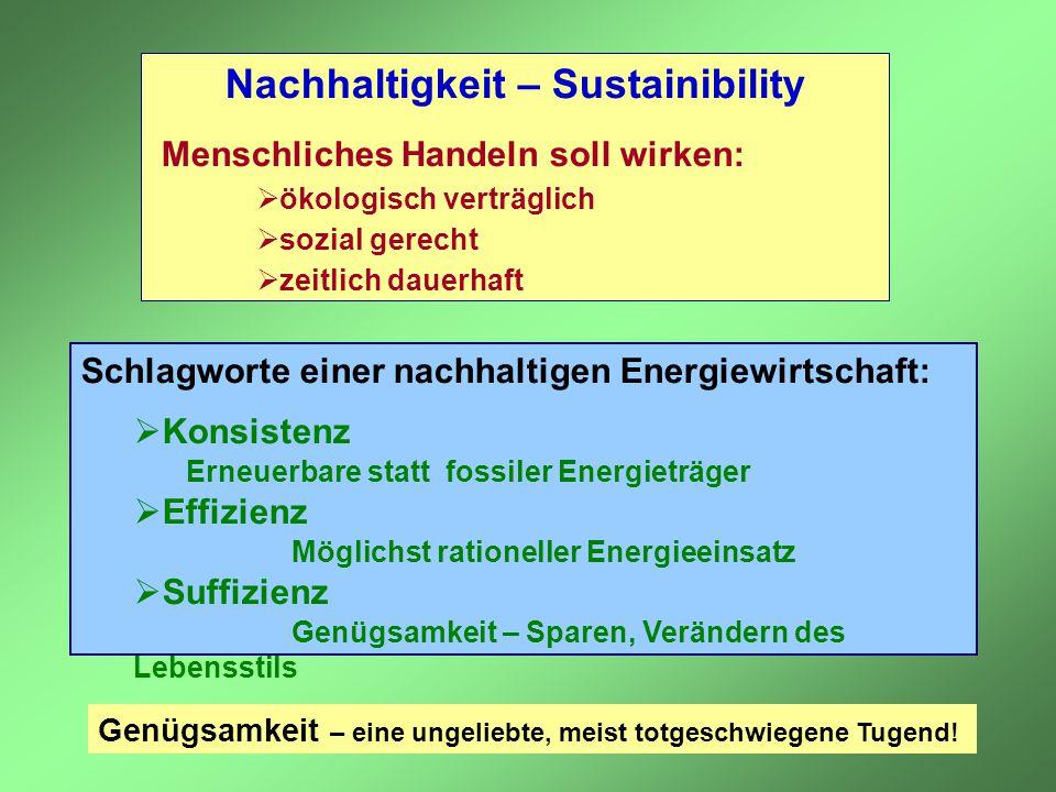 Nachhaltigkeit – Sustainibility