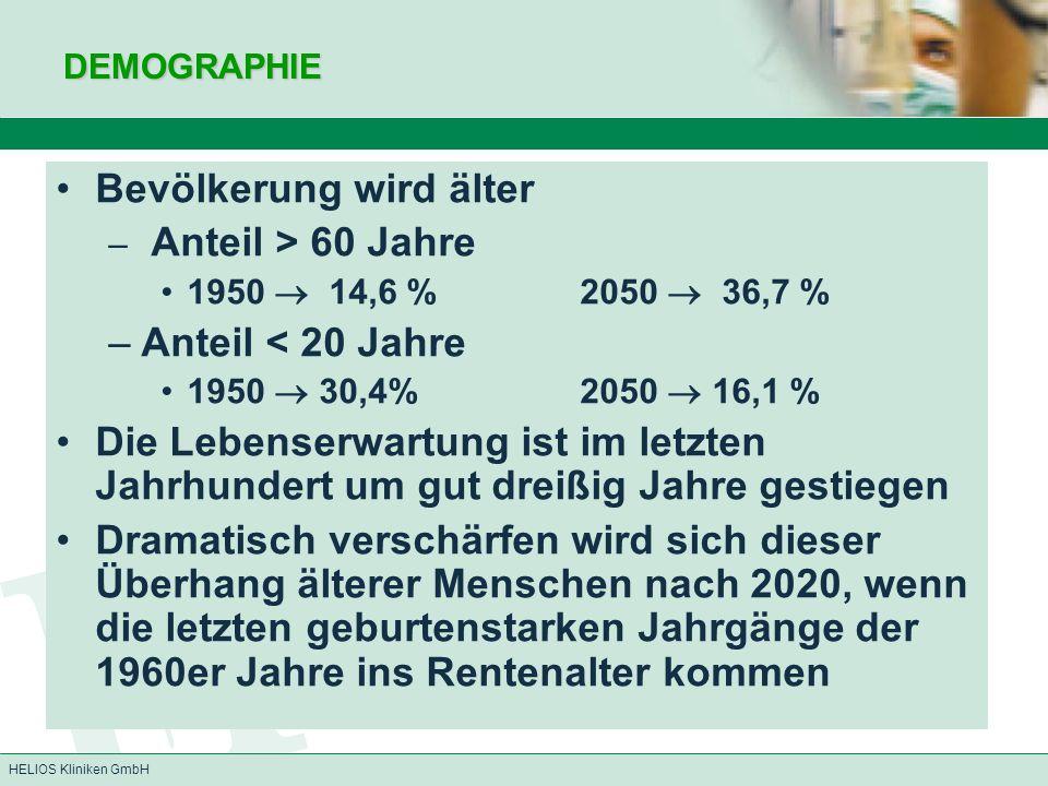 Bevölkerung wird älter