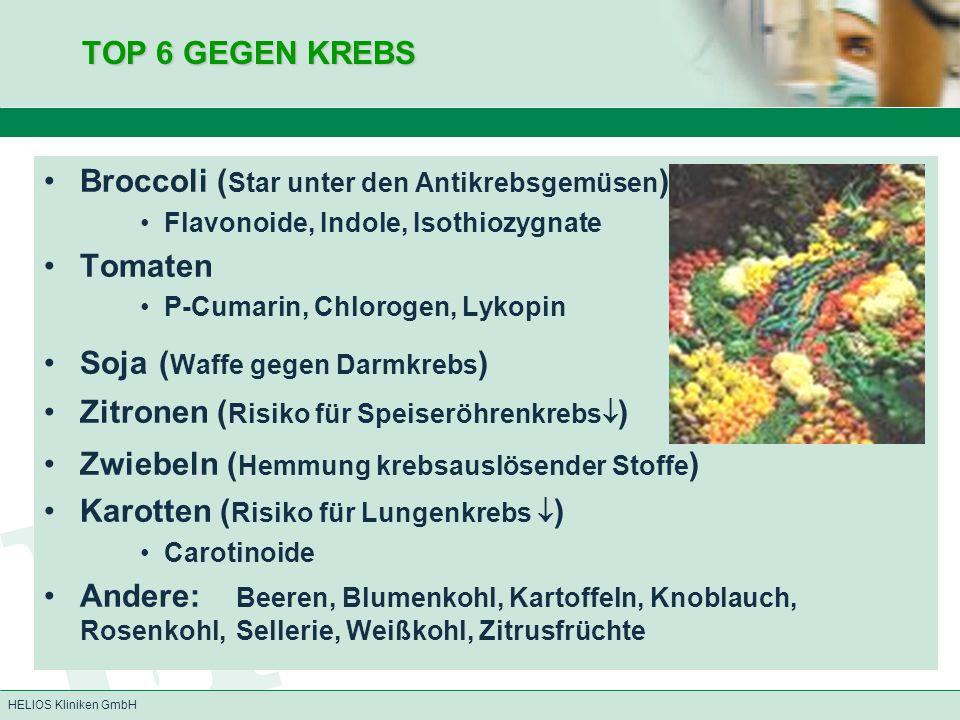 Broccoli (Star unter den Antikrebsgemüsen) Tomaten