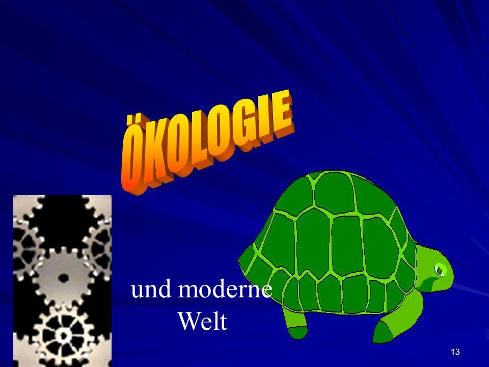 ÖKOLOGIE und moderne Welt