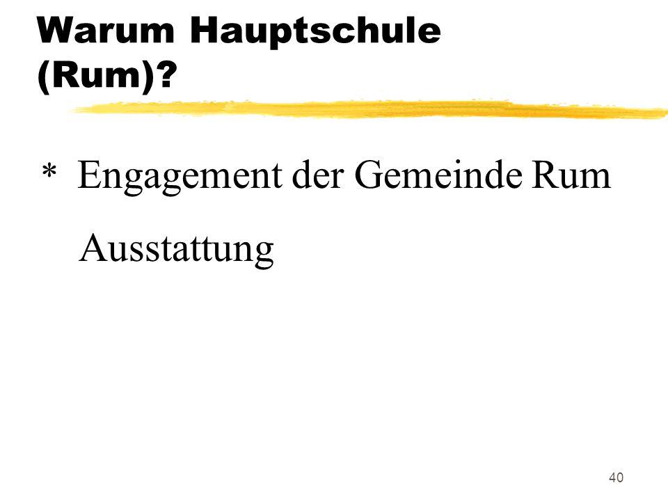 Warum Hauptschule (Rum)