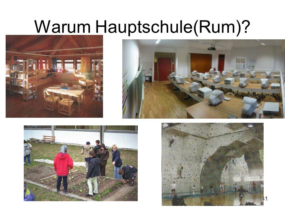 Warum Hauptschule(Rum)