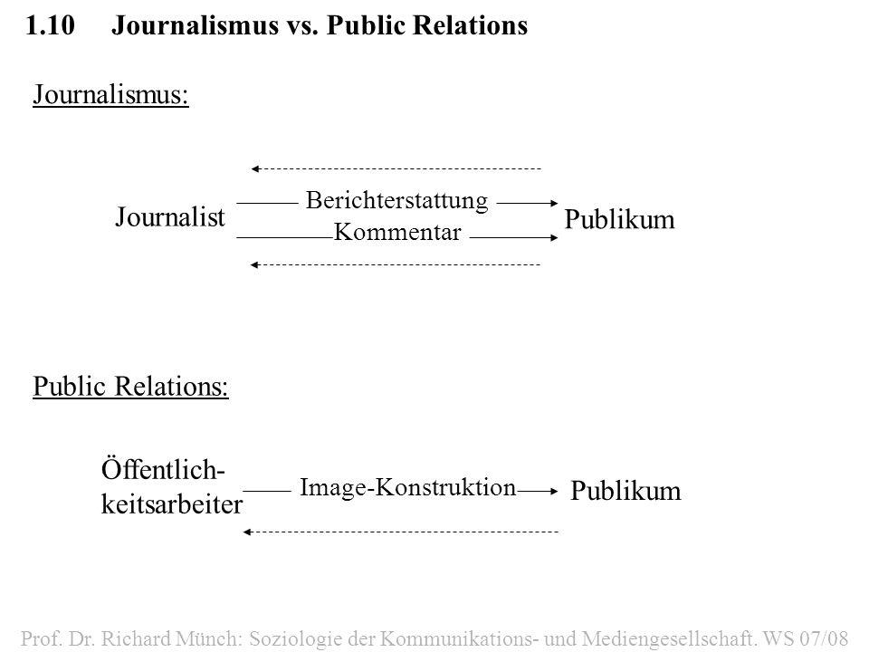 1.10 Journalismus vs. Public Relations