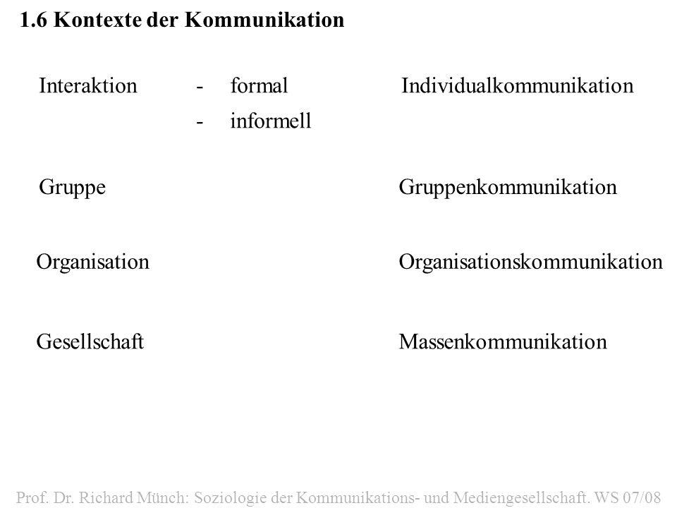 1.6 Kontexte der Kommunikation