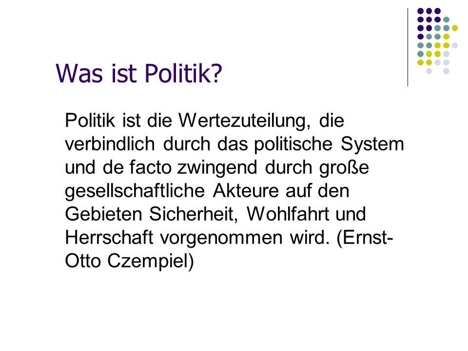 Was ist Politik