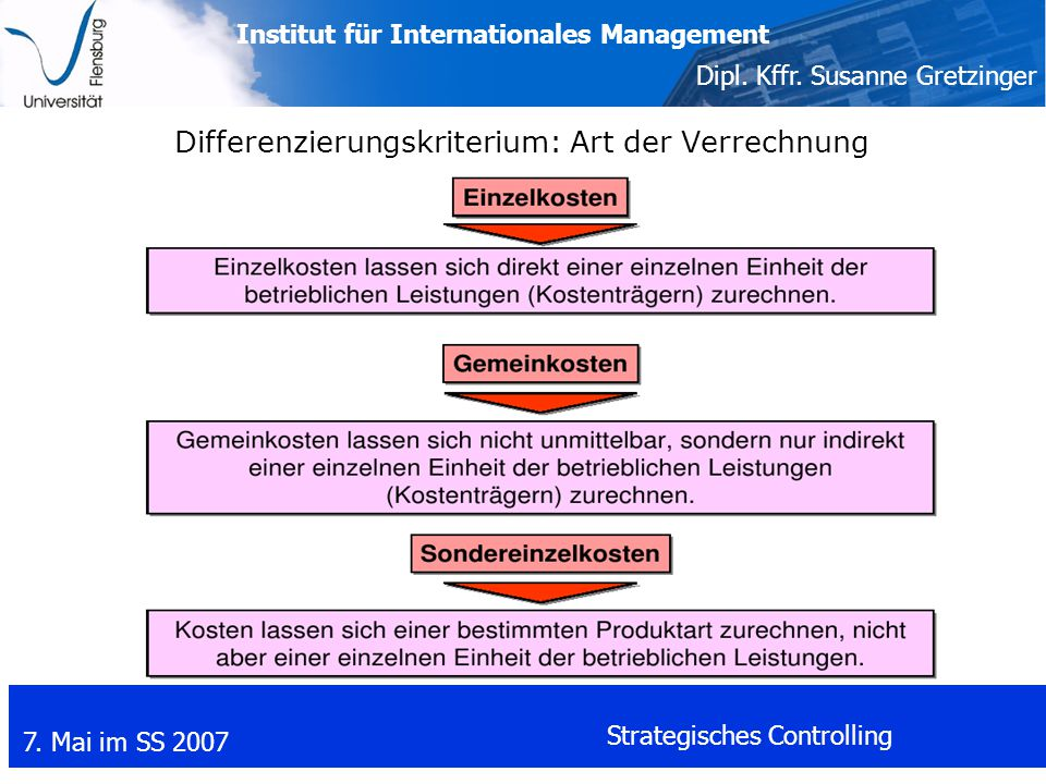 Differenzierungskriterium: Art der Verrechnung