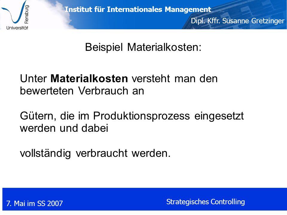 Beispiel Materialkosten: