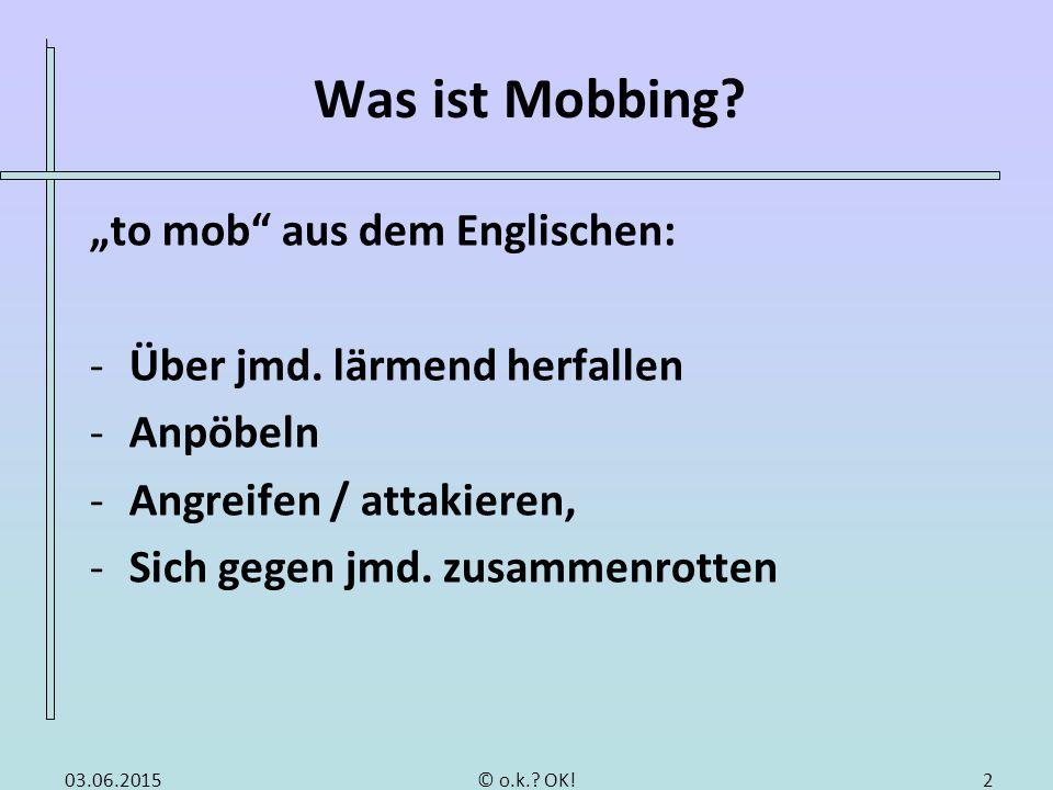 Was ist Mobbing