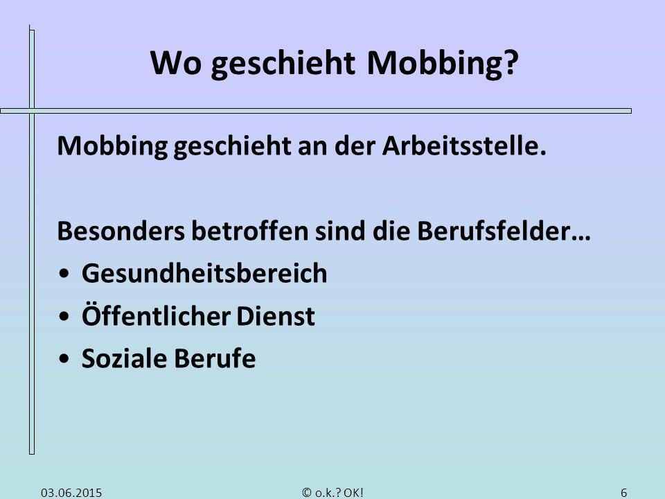 Schwierigkeiten zur Abgrenzung von Mobbing