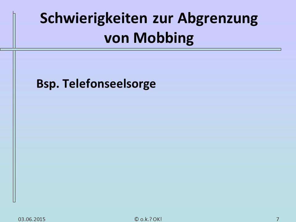 Ursachen von Mobbing Fragestellung: Ursachen auf Seiten des Opfers