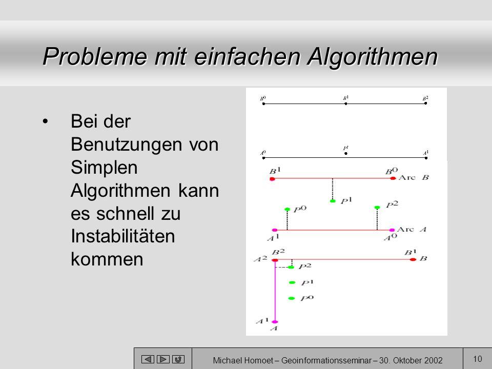Probleme mit einfachen Algorithmen