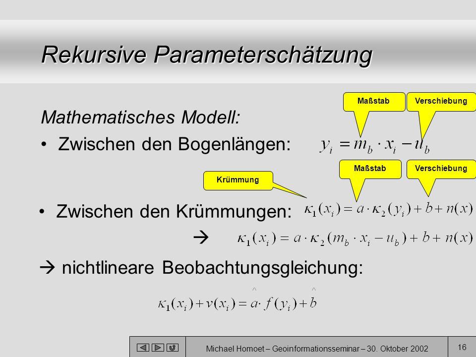 Rekursive Parameterschätzung