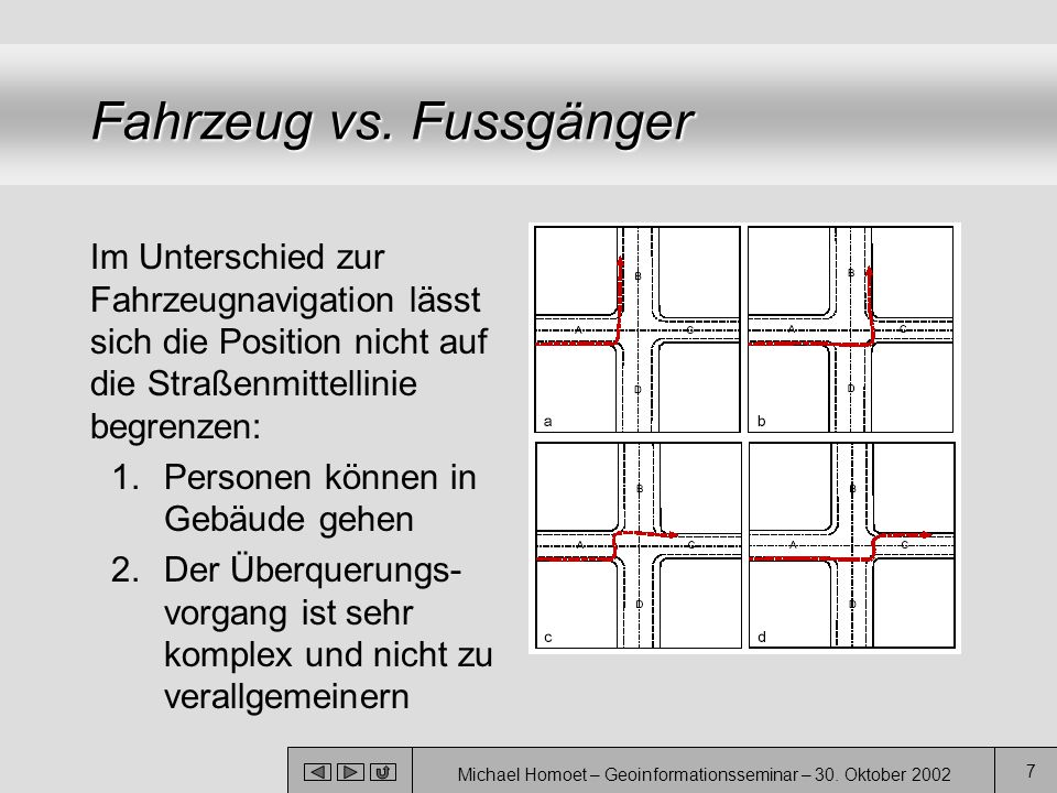 Fahrzeug vs. Fussgänger