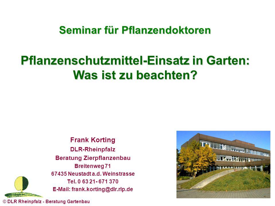 Seminar für Pflanzendoktoren Pflanzenschutzmittel-Einsatz in Garten: Was ist zu beachten
