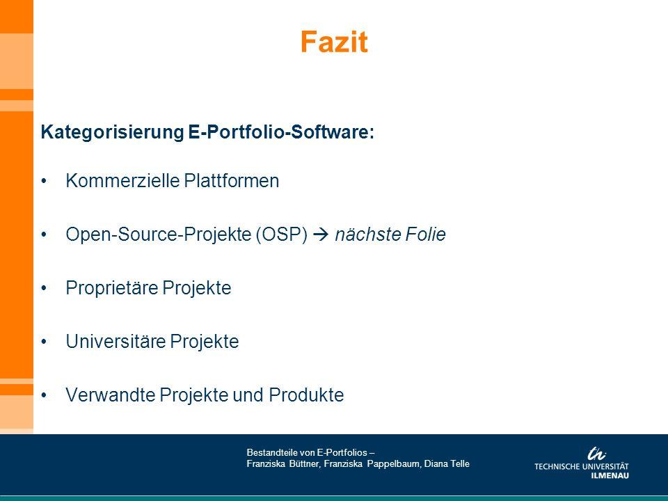 Fazit Kategorisierung E-Portfolio-Software: Kommerzielle Plattformen