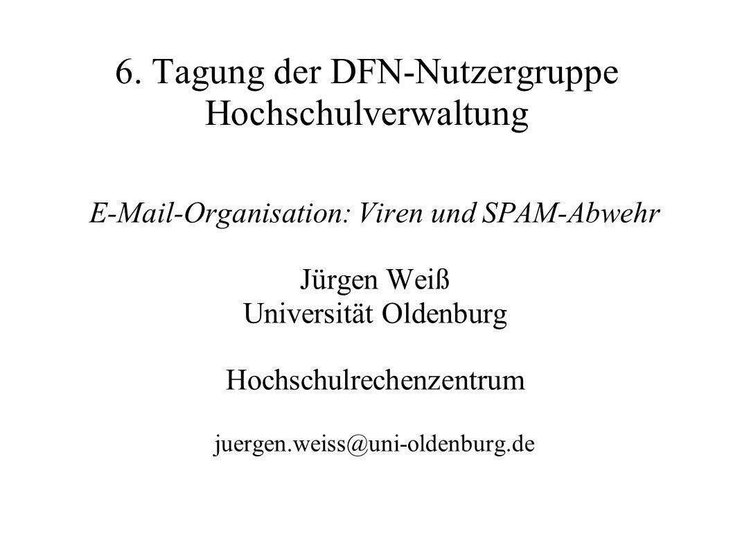 6. Tagung der DFN-Nutzergruppe Hochschulverwaltung