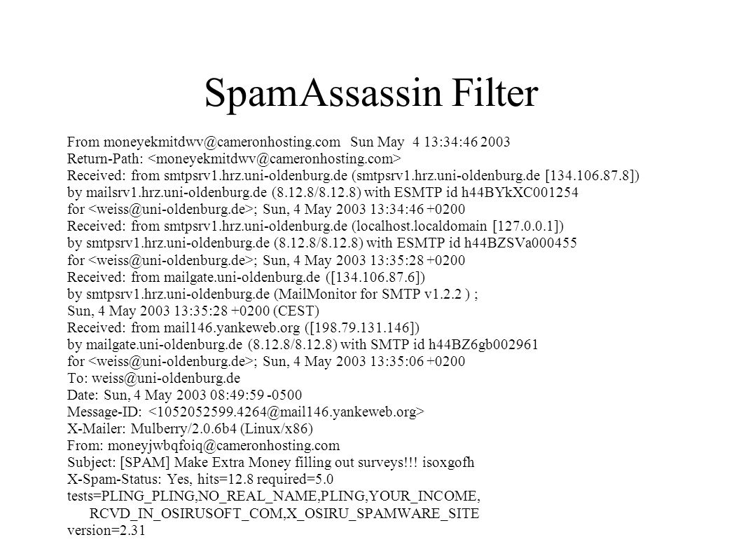 SpamAssassin Filter From moneyekmitdwv@cameronhosting.com Sun May 4 13:34:46 2003. Return-Path: <moneyekmitdwv@cameronhosting.com>