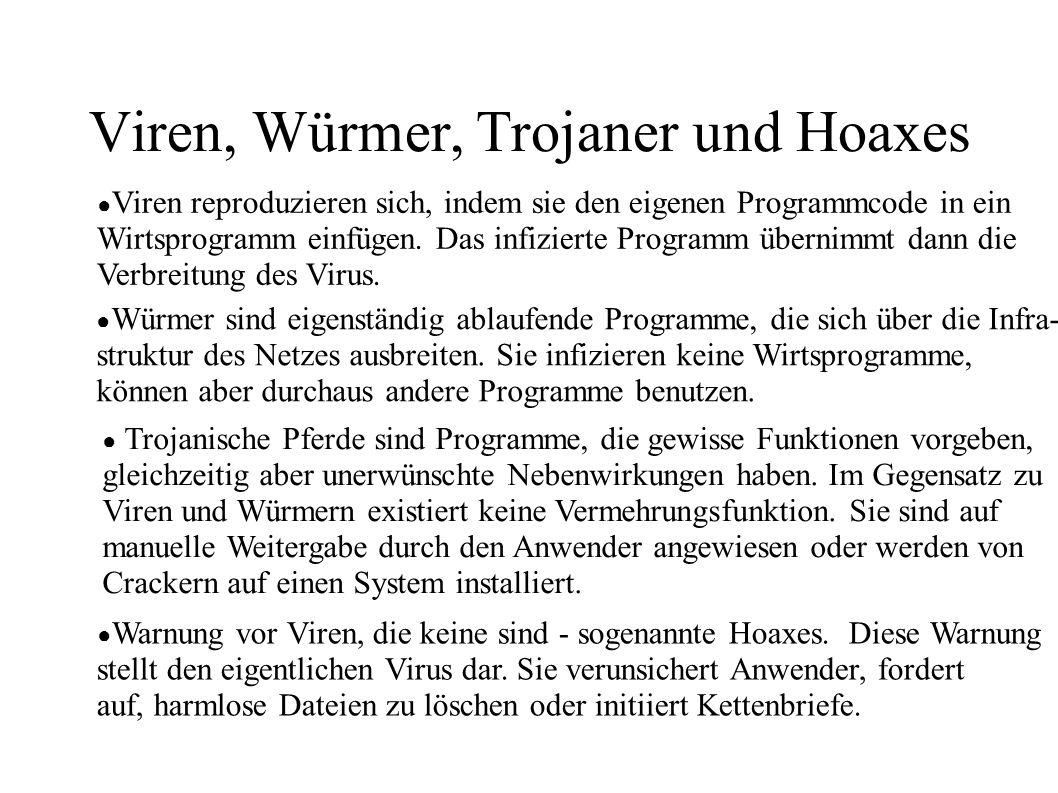 Viren, Würmer, Trojaner und Hoaxes