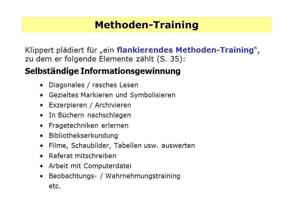 Methoden-Training Selbständige Informationsgewinnung