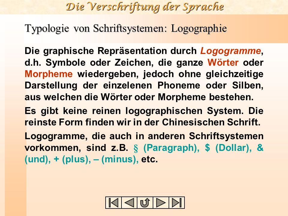 Typologie von Schriftsystemen: Logographie