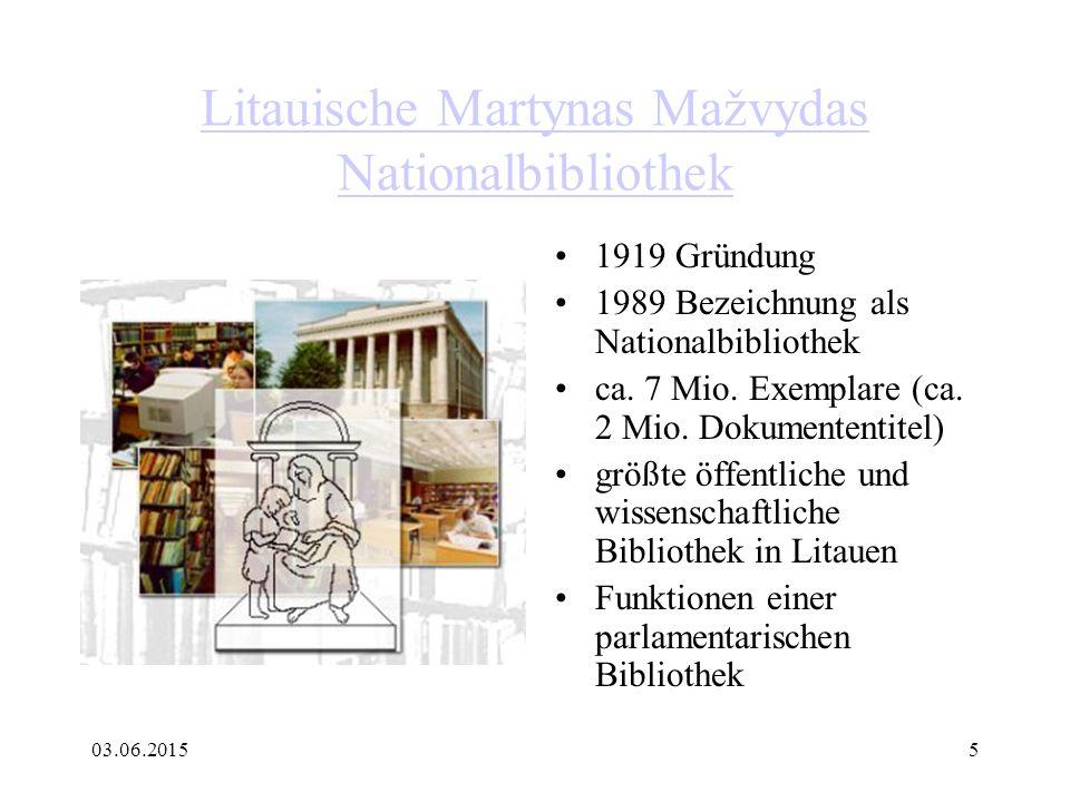Litauische Martynas Mažvydas Nationalbibliothek