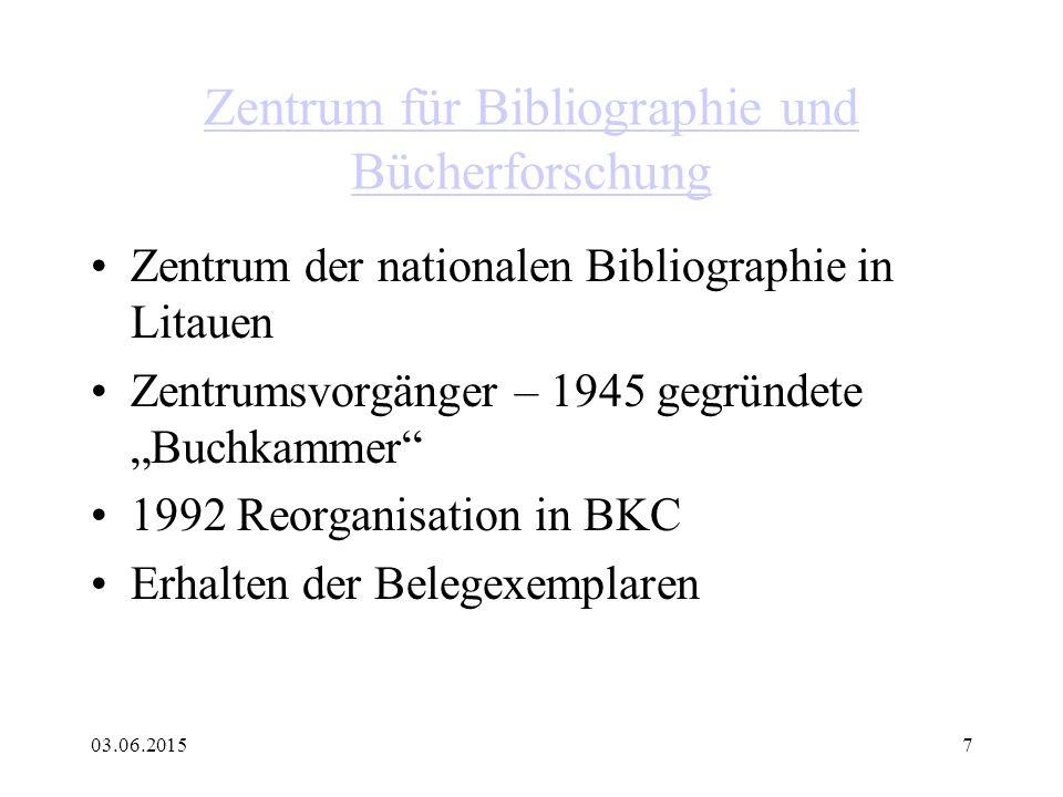 Zentrum für Bibliographie und Bücherforschung