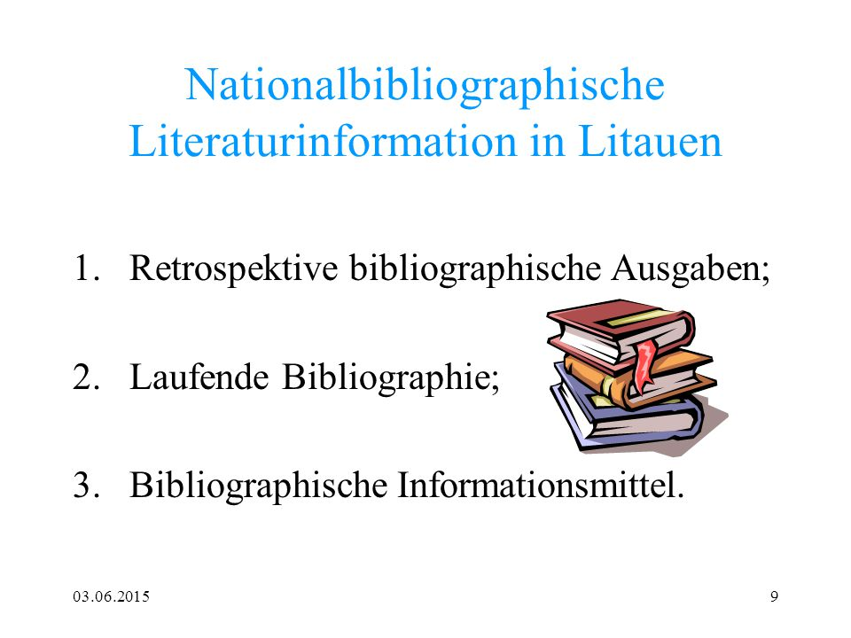 Nationalbibliographische Literaturinformation in Litauen