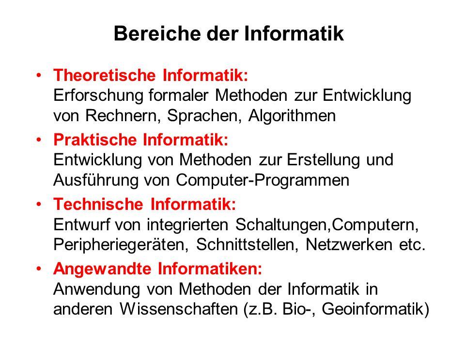 Bereiche der Informatik