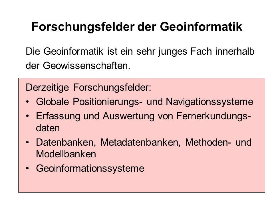 Forschungsfelder der Geoinformatik